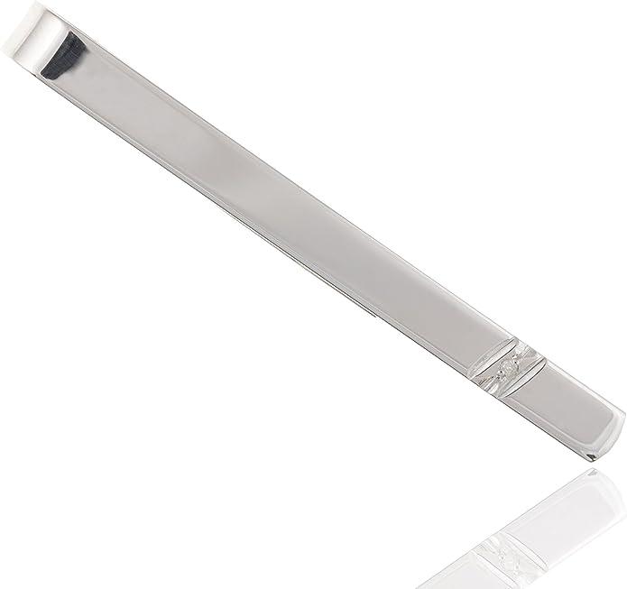 Broche para corbata de plata de ley 925 con diamantes. Corbata ...