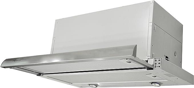 Mepamsa Maxima 60 V2 Campana aspirante extraplana de inox, 20 W, 3 Velocidades, Acero inoxidable: Amazon.es: Grandes electrodomésticos