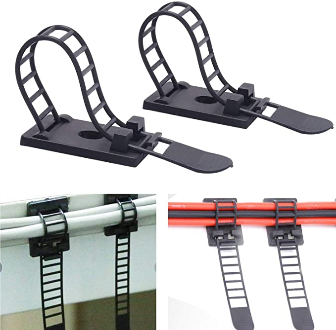 Nsiwem Self Adhésif Attaches De Câbles Set Câble Sticky Pads adhésif Cable Tie Mounts