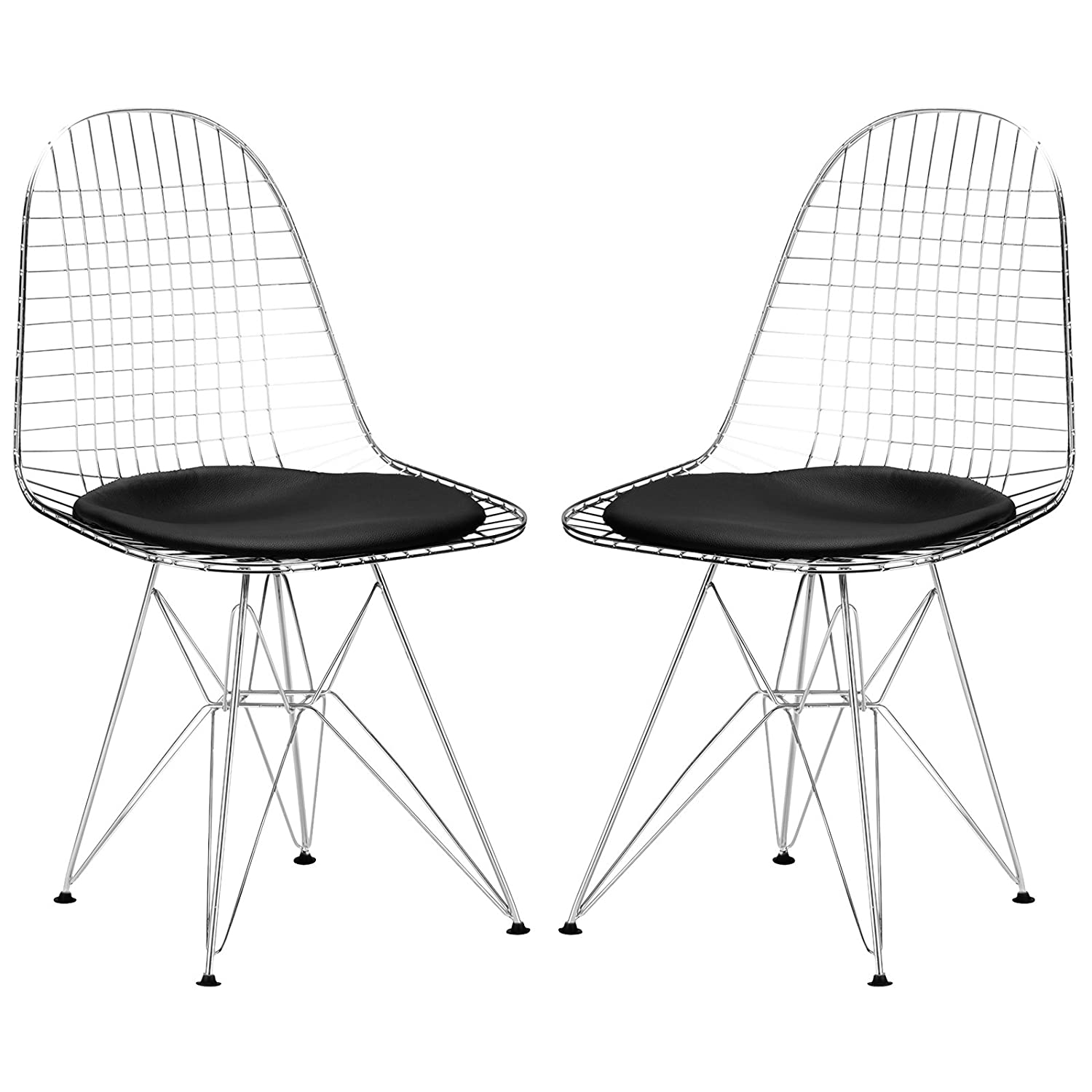 Amazon Poly and Bark Eames Eiffel DKR Style Wire Chair Black