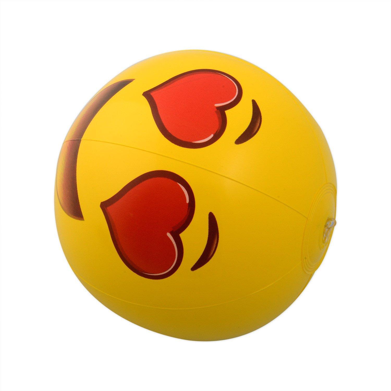 Kangaroo Emoji Universe: 12'' Emoji Inflatable Beach Balls, 12-Pack by Kangaroo (Image #1)