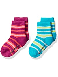 Carhartt Toddler Girl's 2 Pack Infant-Toddler Thermal Crew Socks With Grippers