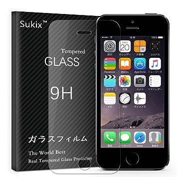 f801c70b85 Amazon | Sukix ガラスフィルム iPhone 5/5S/5C/SE 対応 | 液晶保護 ...