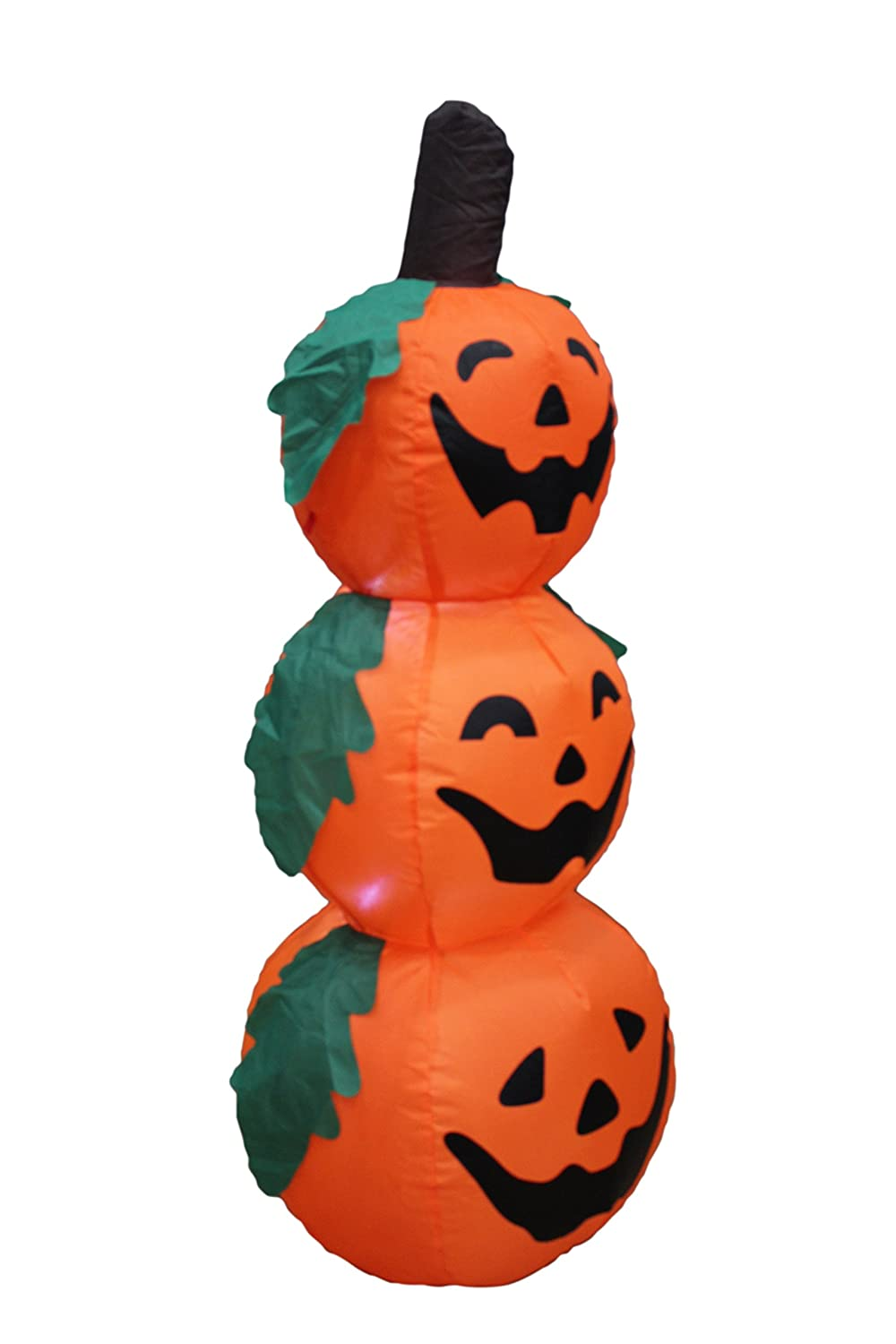 Amazon.com: 4 Foot Halloween Inflatable 3 Jack-O-Lanterns Yard Art ...