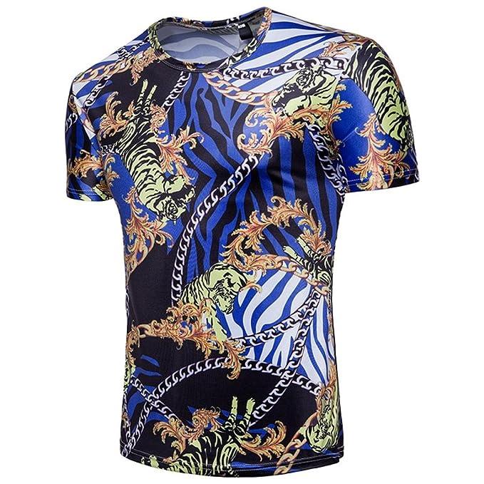 772c374e9394 Kanpola T-Shirt Herren Slim Fit Shirt Männer Kurzarm Shirts 3D Aufdruck und  Rundhalsausschnitt  Amazon.de  Bekleidung