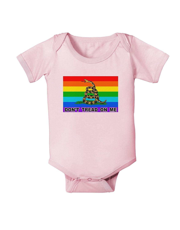 LGBT Rainbow Gadsden Flag Freedom Infant One Piece Bodysuit