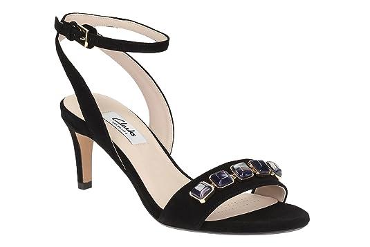 Clarks Women's Amali Opal Leather Fashion Sandals Women's Fashion Sandals at amazon