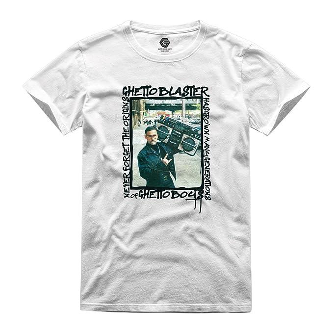 GATESEVEN Camiseta de Hombre Ghetto Blaster Streetwear Urban Style: Amazon.es: Ropa y accesorios