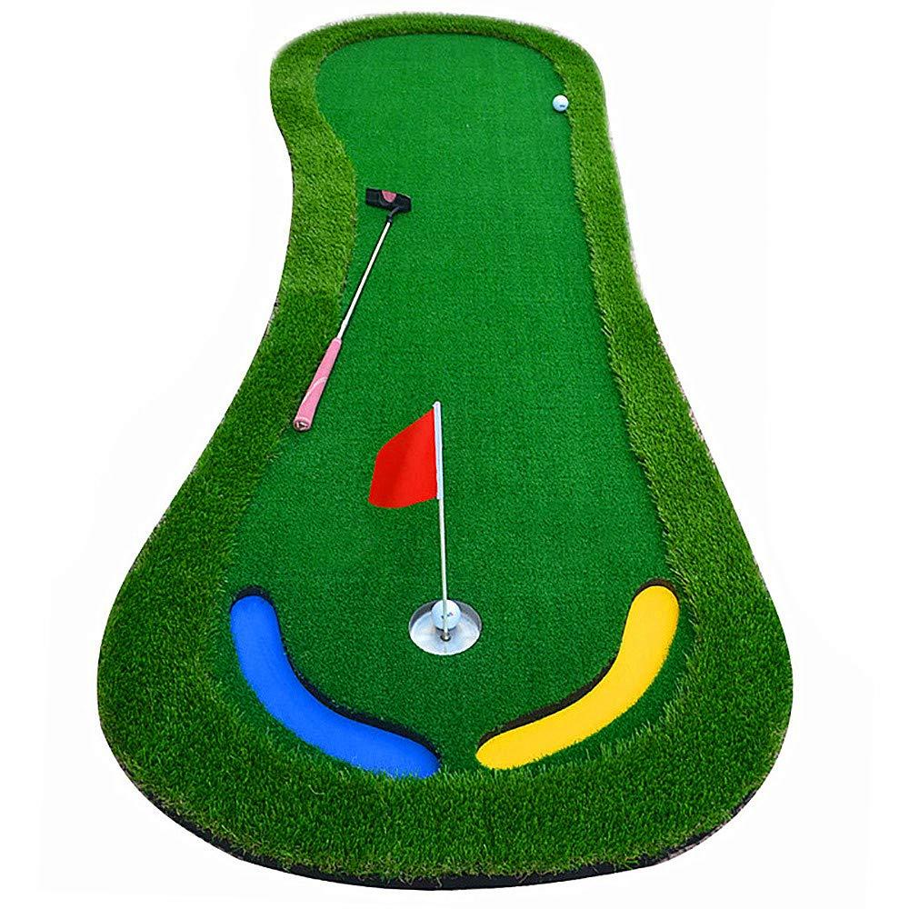 ゴルフ打撃マット、1.57 「ロンググラスリム、0.19」 EVA ボトムプレート、マルチレベルスロープパッド、39.37 * 118.11 インチ屋内/屋外ゴルフ練習マット   B07PZ73MG4