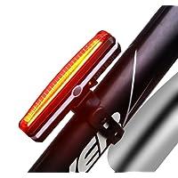MPTECK @ Lumière rouge Eclairage Arrière Vélo Eclairage Velo LED Moto lumière rouge Feu arrière de Vélo Puissant Lampe Velo Led Rechargeable USB 6 modes de LED Imperméable à l'eau Bike Light Résistant à l'eau Feu arrière Pour Assurer la sécurité et visibilité Moto