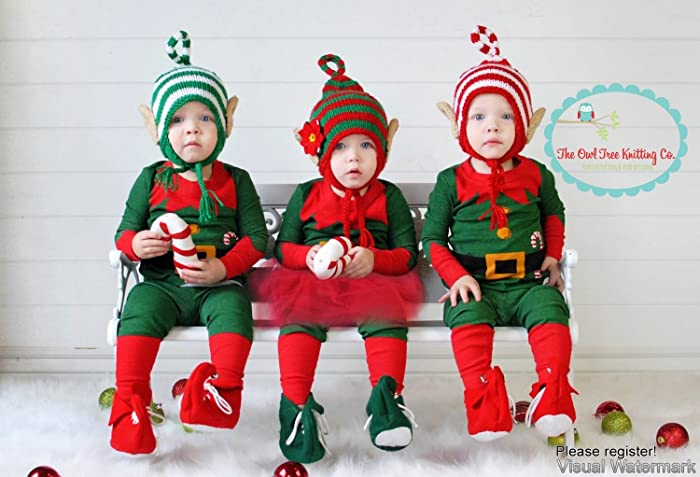 amazon com elf hat baby elf beanie elf hat elf ears christmas