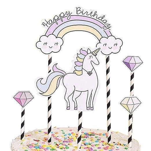 Unicornio decoración para tarta para, kootips Cute Unicorn ...