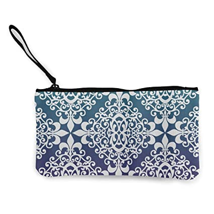 Billetera, Monederos, Cute Canvas Wristlets Blue Indian ...