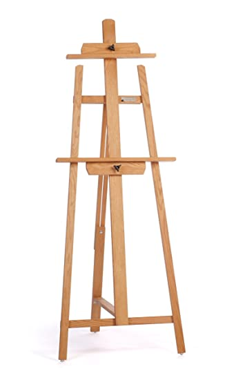 american easel oak colossal a frame easel golden finish