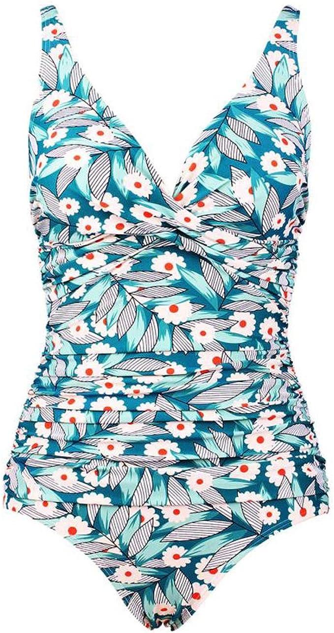 Summer Mae Damen Bauchweg Badeanzug Einteilig Figurformend Schlankheits Bademode
