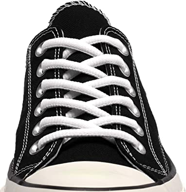 Black w White Oval style Athletic sneaker shoelaces 12 Pair Pack
