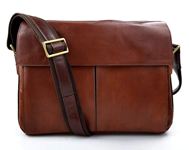 d31b8dc924 Amazon.com  Leather satchel mens messenger ladies handbag shoulderbag ipad  tablet leather bag brown crossbody leather sling leather tablet  Handmade