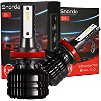 Snorda H11/H9/H8 LED Headlight Bulb Conversion Kit with Super Bright CSP Chips