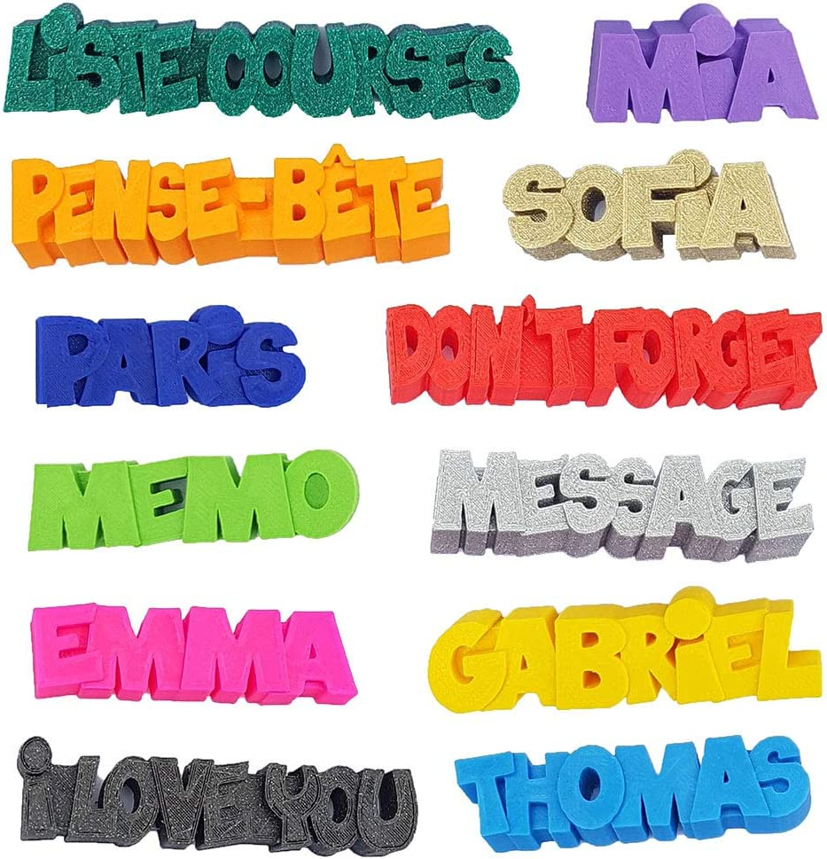 Imán 3D personalizado con nombre, mensaje o símbolo, imán para frigo, decoración para cocina, habitación o despacho, pegatina para regalo original: Amazon.es: Hogar
