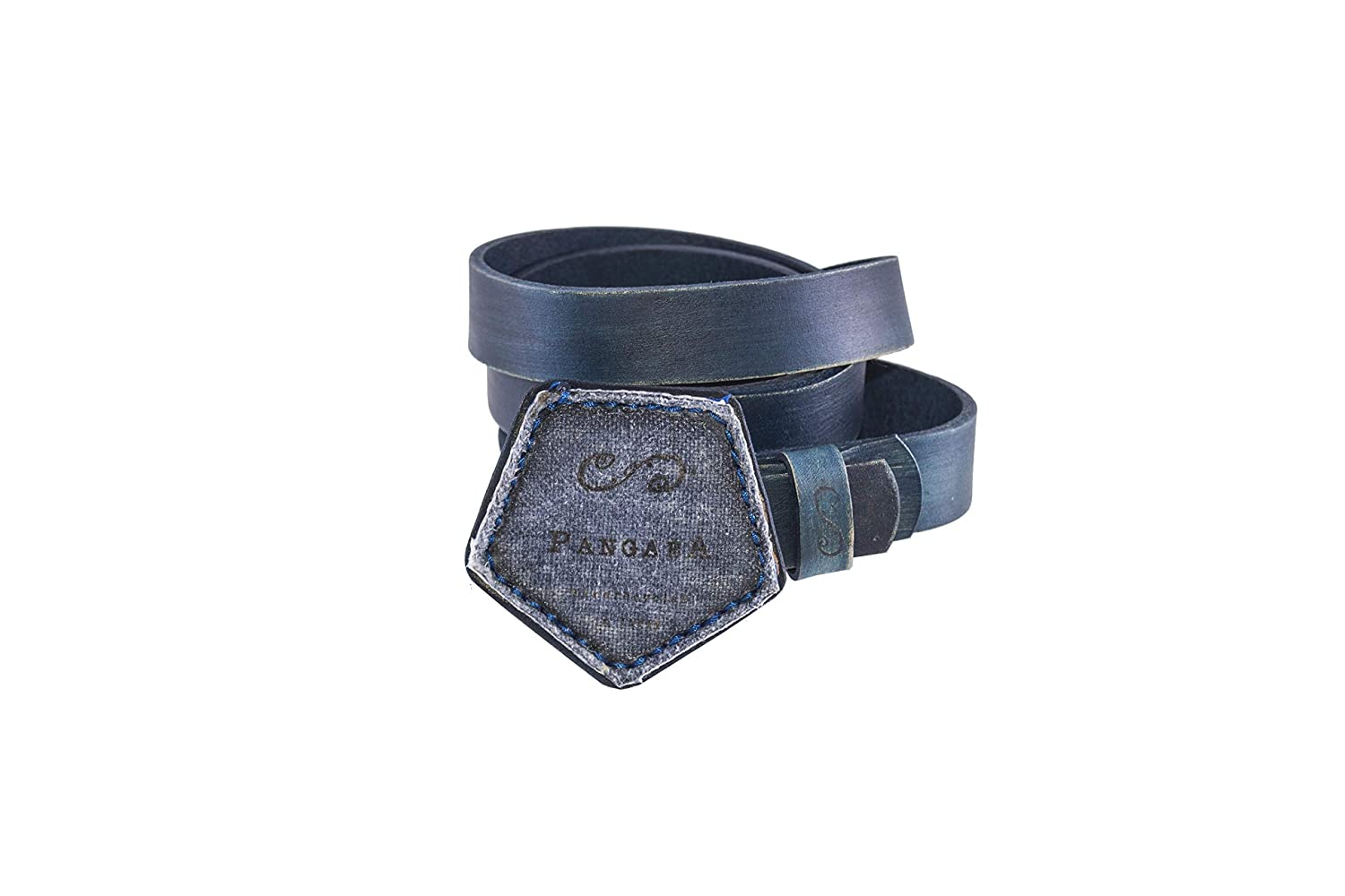 Soccer ball recycled bordeaux leather belt