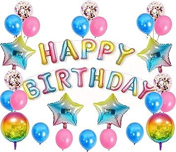 Amazon.com: Decoración de cumpleaños para fiestas, globos ...