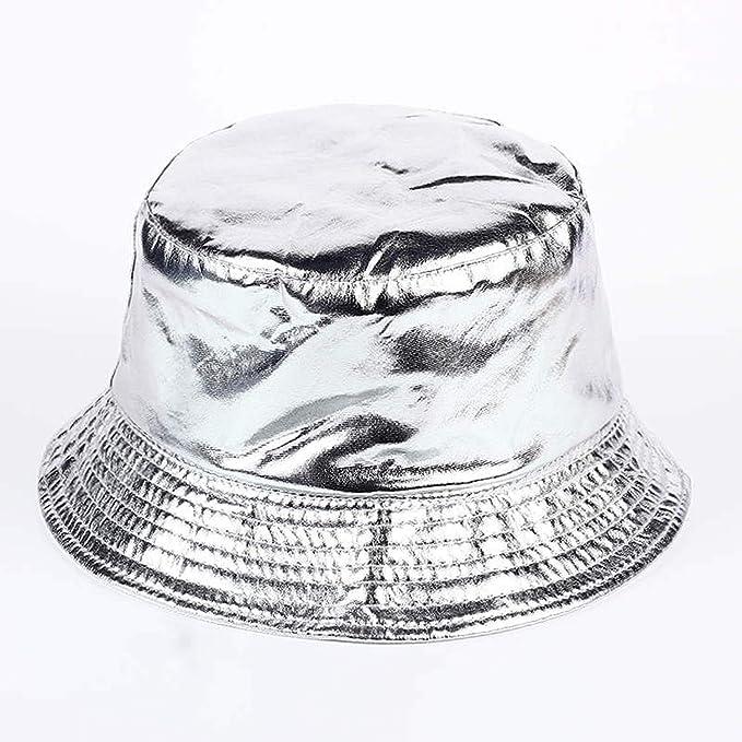 d4c9b0af 2019 PU Hip Hop Caps Bucket Hats for Men and Women Hat Leather Bobs Panama  Bapa