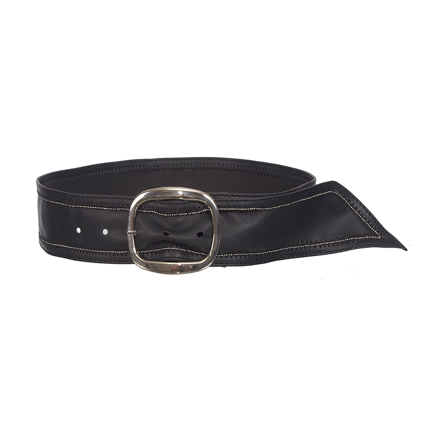 Sunny Belt Girls 2 Inch-Wide Faux Leather Black Sash Belt With Silver Buckle KDC_SUN_SUN26_KIDS_BLK_O/S