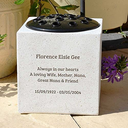 Special Mum - Grave Vase (Rose Bowl) with Butterfly and