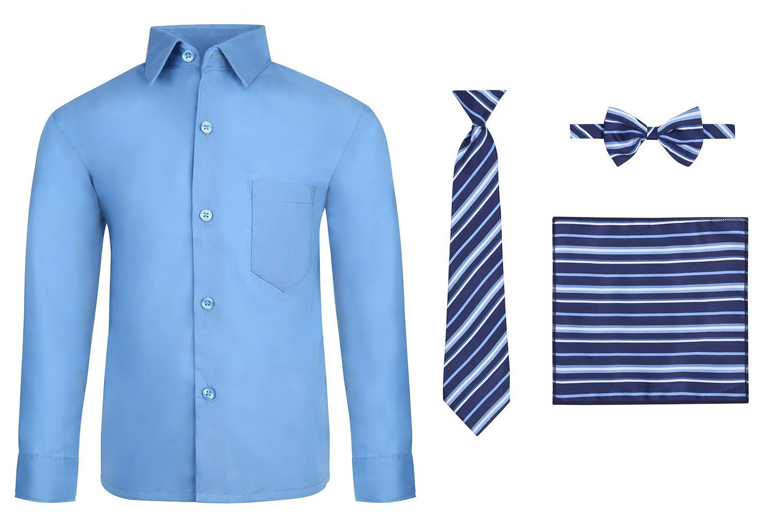 29b9fffbd82 S.H. Churchill   Co. Boy s 4 Piece Dress Shirt Set Long Tie