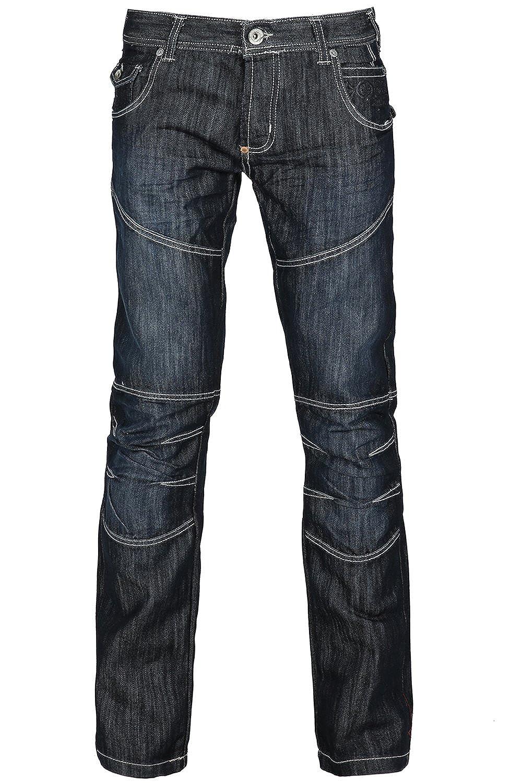 a17d7e5b Mens Full Length Newport Dark Wash Cross Hatch Designer Branded Belt Denim  Jeans at Amazon Men's Clothing store: