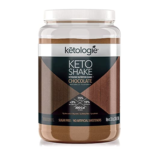 Ketologie Chocolate Keto Protein Shake | Best Ketogenic Nutritional Shake | Low Carb High Fat (LCHF) Keto Shake | Helps Burn Fat, Increases Energy & Kickstarts Ketosis Net WT 38.1oz(2.38lb)