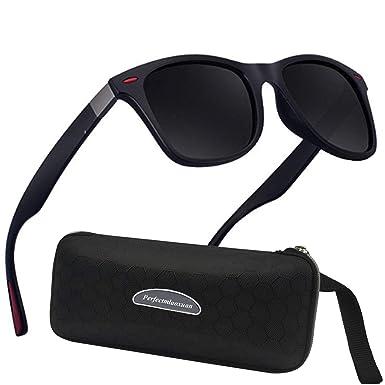 Perfectmiaoxuan Gafas de sol polarizadas Hombre Mujere Lujo Retro/Aire libre Deportes Golf Ciclismo Pesca