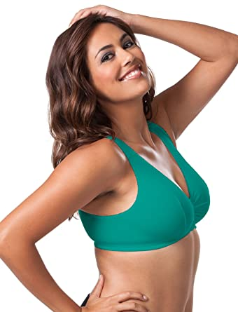 3fa94a3908df2 Image Unavailable. Image not available for. Color  Leading Lady Plus Size  Cotton Knit Leisure Bra ...