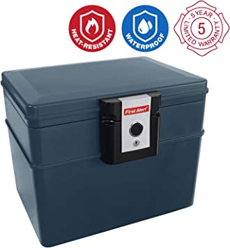 First Alert 2037 - Caja de seguridad para documentos (resistente ...