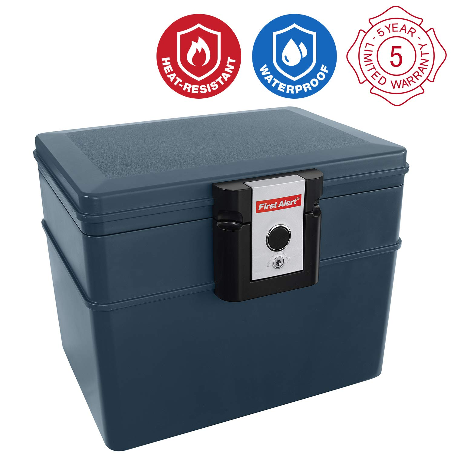 First Alert 2037F Water and Fire Protector File Chest, 0.62 Cubic Feet by First Alert