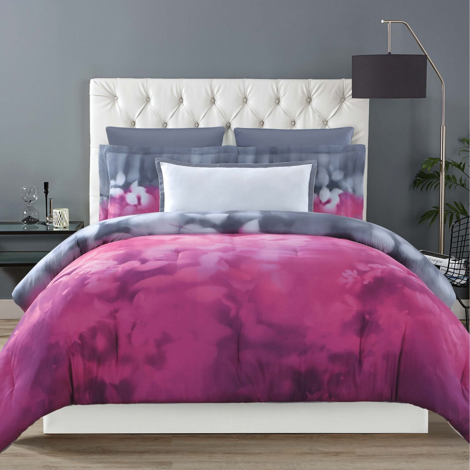 Christian Siriano Botanical Ombre Full/Queen 3 Piece Comforter Set