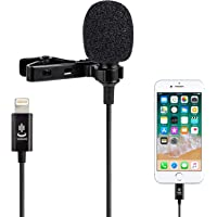 Microphone kit for iPhone,Lavalier Lapel Microphone Speaker Omnidirectional Audio Video Recording for iPhone X Xr Xs Max…
