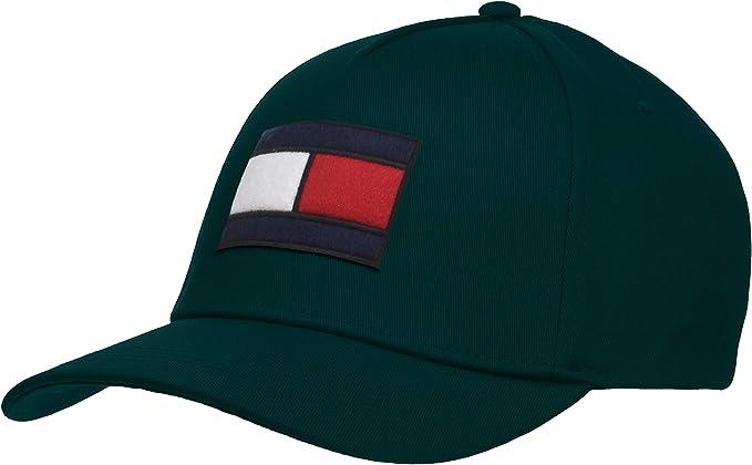 Tommy Hilfiger SPW Flag Cap Gorra de béisbol, Verde (Rain Forest ...