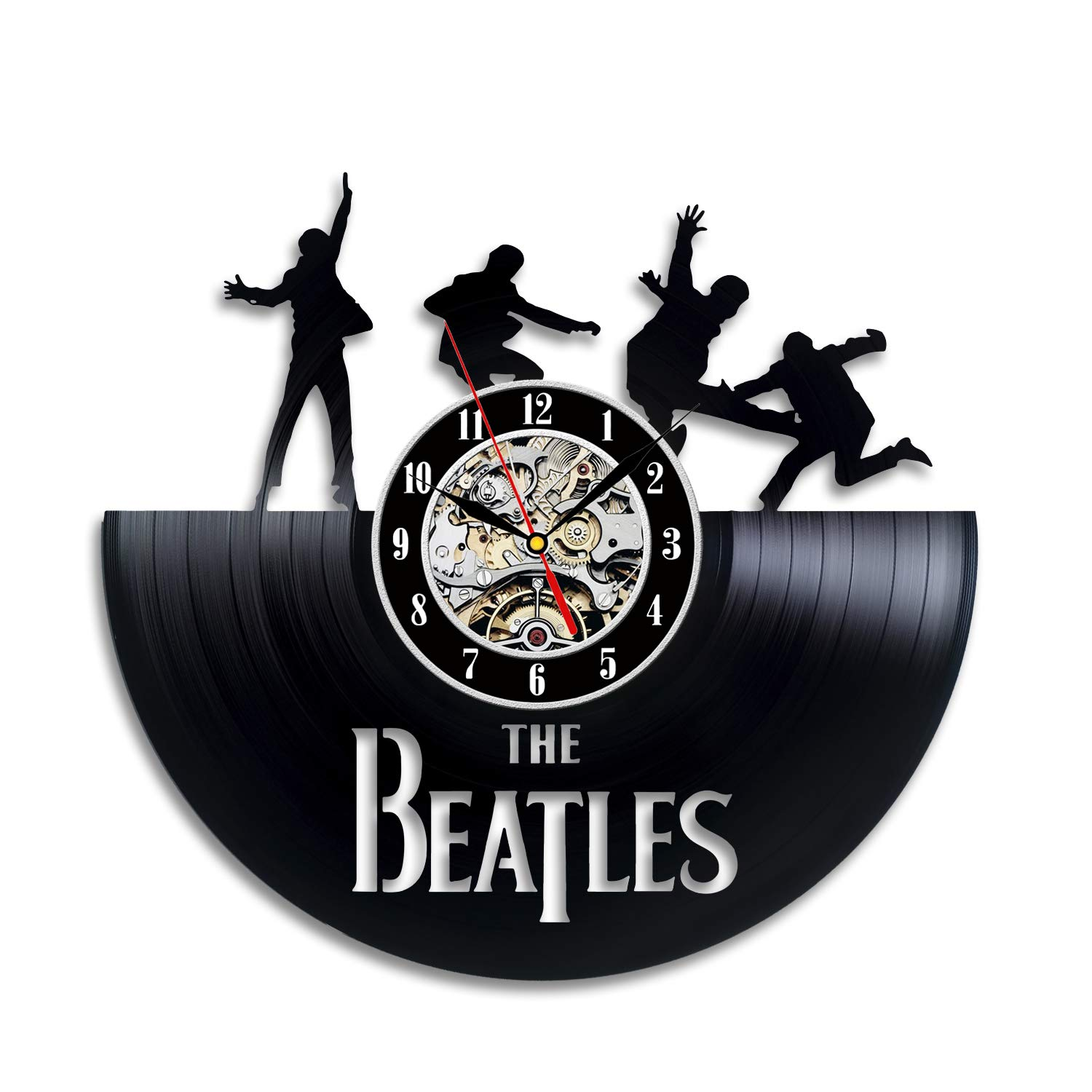 The Beatles Decor Vinyl Wall Clock Fan Gift Children's Room Decor Idea Home Art Party VinylEvolution VE223