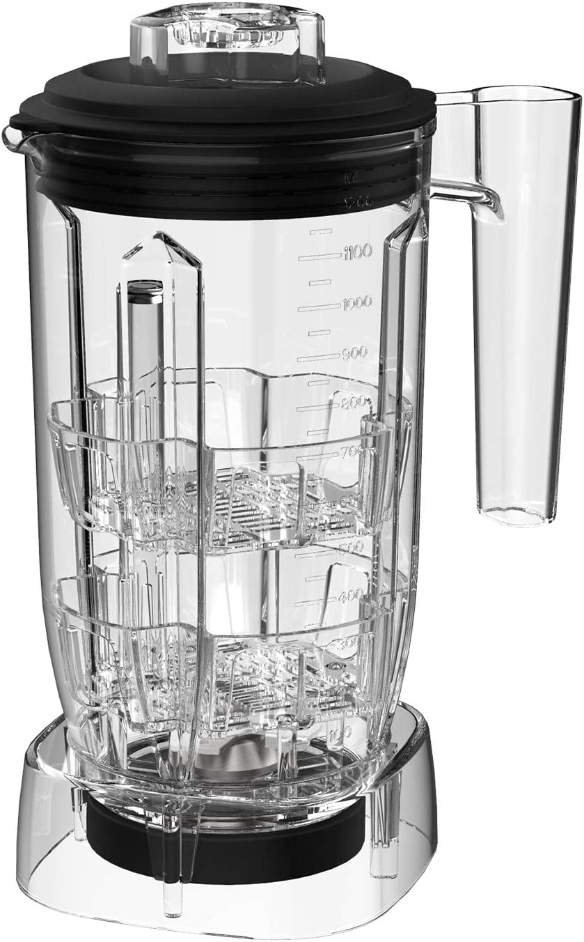 CRANDDI K98 Tea Jar, 52oz (1.5L) Blender Cup, Ice Tea Cup 52oz PC Jar, Comes with 4-point Stainless Steel Blade, Easy to Use and Clean, Works with CRANDDI K98 Blender Pre-Programmed Setting of Manual Mode, K98-TEA