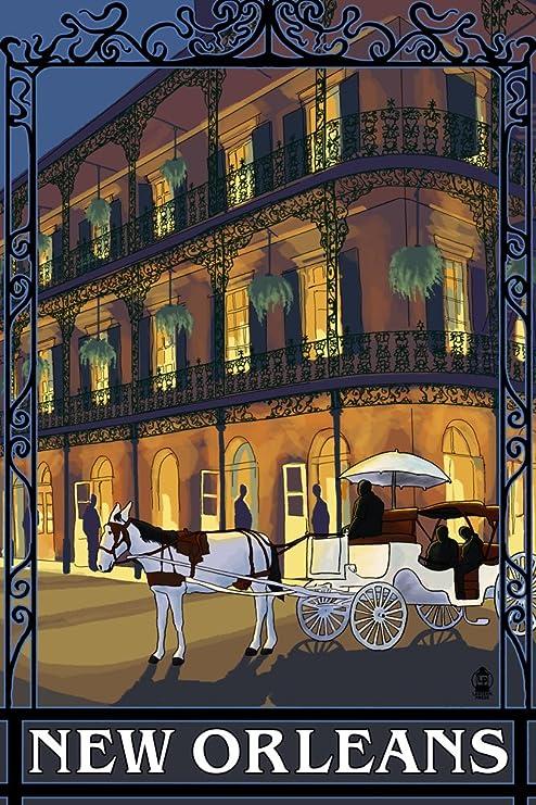 Amazon Com New Orleans Louisiana French Quarter 9x12 Art