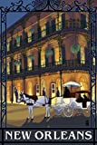 New Orleans, Louisiana - French Quarter (9x12 Art Print, Wall Decor Travel Poster)