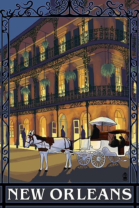 New Orleans, LA   French Quarter (9x12 Art Print, Wall Decor Travel Poster