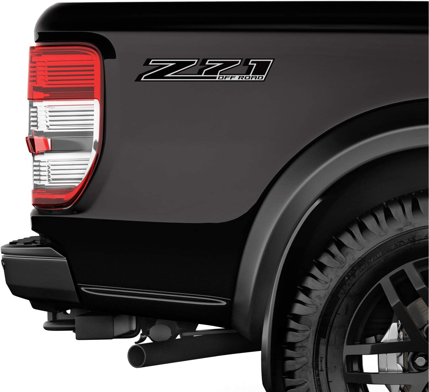 TiresFX Chevy Silverado Z71 Offroad Truck Black Blackout Stickers Decals 2014-2018