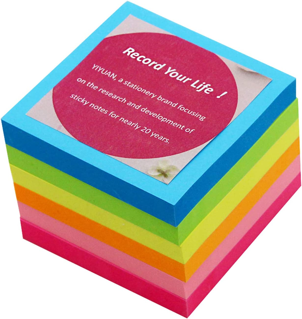 3 Inches Sticky Notes,Bright Colorful Sticky Pads, Assorted Colors, Super Strong Self-Stick Notes,24 Pads/Pack,100 Sheets/pad, for Reminders, Home, School, and Office (6 PACK)