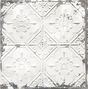 A-Street Prints 2701-22305 Tin Ceiling White Distressed Tiles