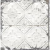 Amazon Com Set Of 4 Antique Distressed White Tin Ceiling