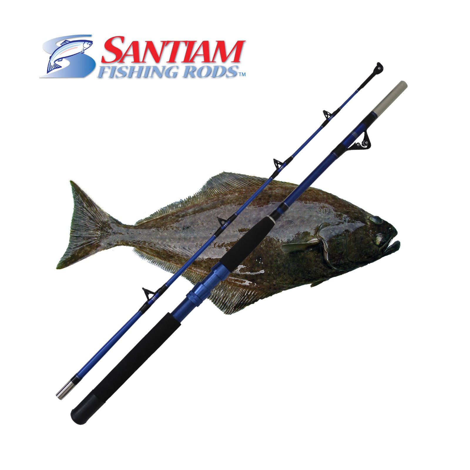 Santiam Fishing Rods Travel Rod 2 Piece 6'0'' 80-120lb Halibut/Tuna/Saltwater Rod