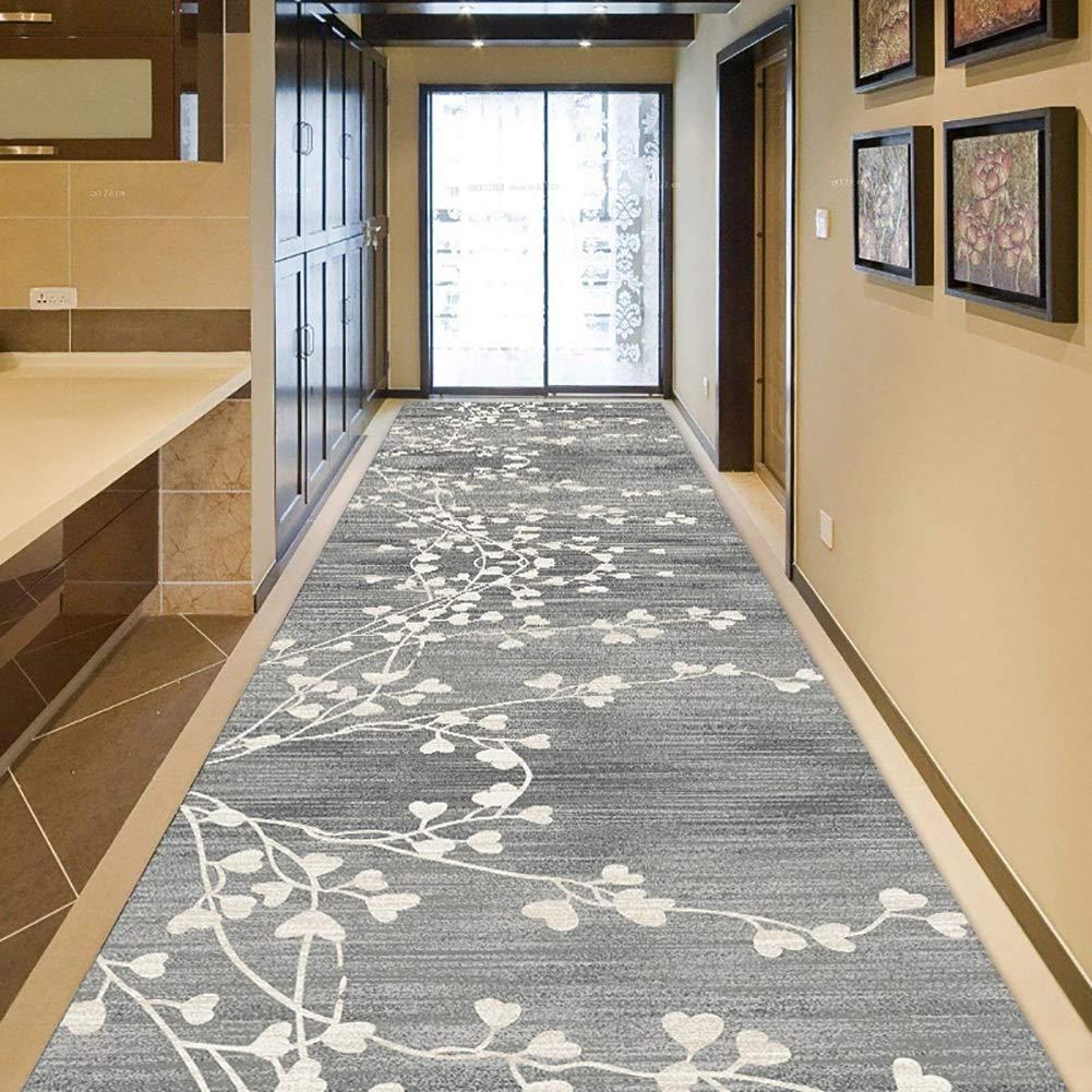 GuoWei-じゅうたん ラグ ための ロング 入り口 廊下 伝統的な 植物 パターン 低い山 サーマル印刷 滑り止め エリア カーペット カスタマイズ可能 (Color : A, Size : 1.4x10m) 1.4x10m A B07SPLWYYG