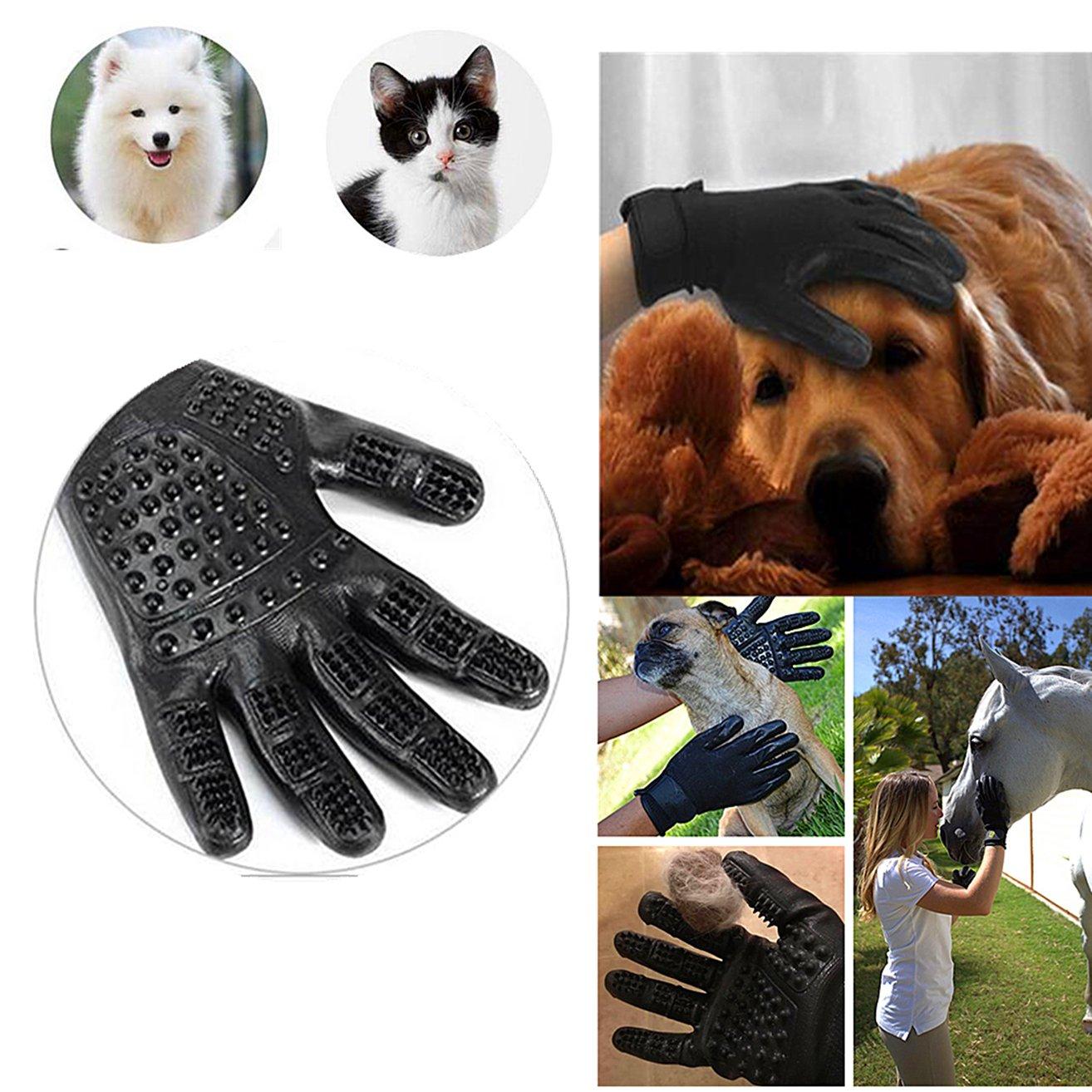 Haikingmoon Guantes Pelo Gato - Guante Pelo Perro - Guantes Mascotas - Perros/Gatos Peinador y Eliminación de Pelo - Guantes para Mascotas (2 Piezas): ...